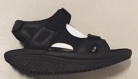 b15e58299f41 Sorte balanse rulle sandaler for damer