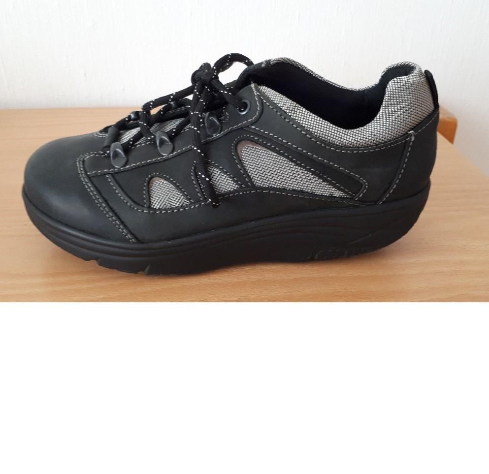 WEB balanse sneaker sortgrå damer